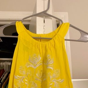 INC International Concepts Yellow Top